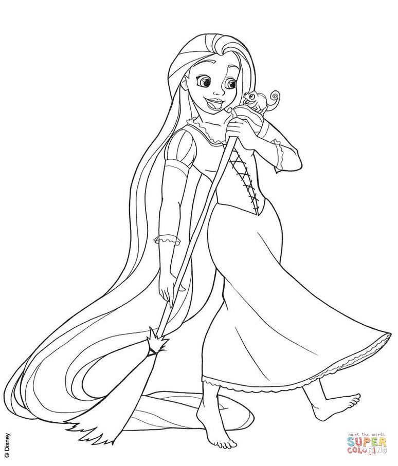Rapunzel Coloring Pages 62