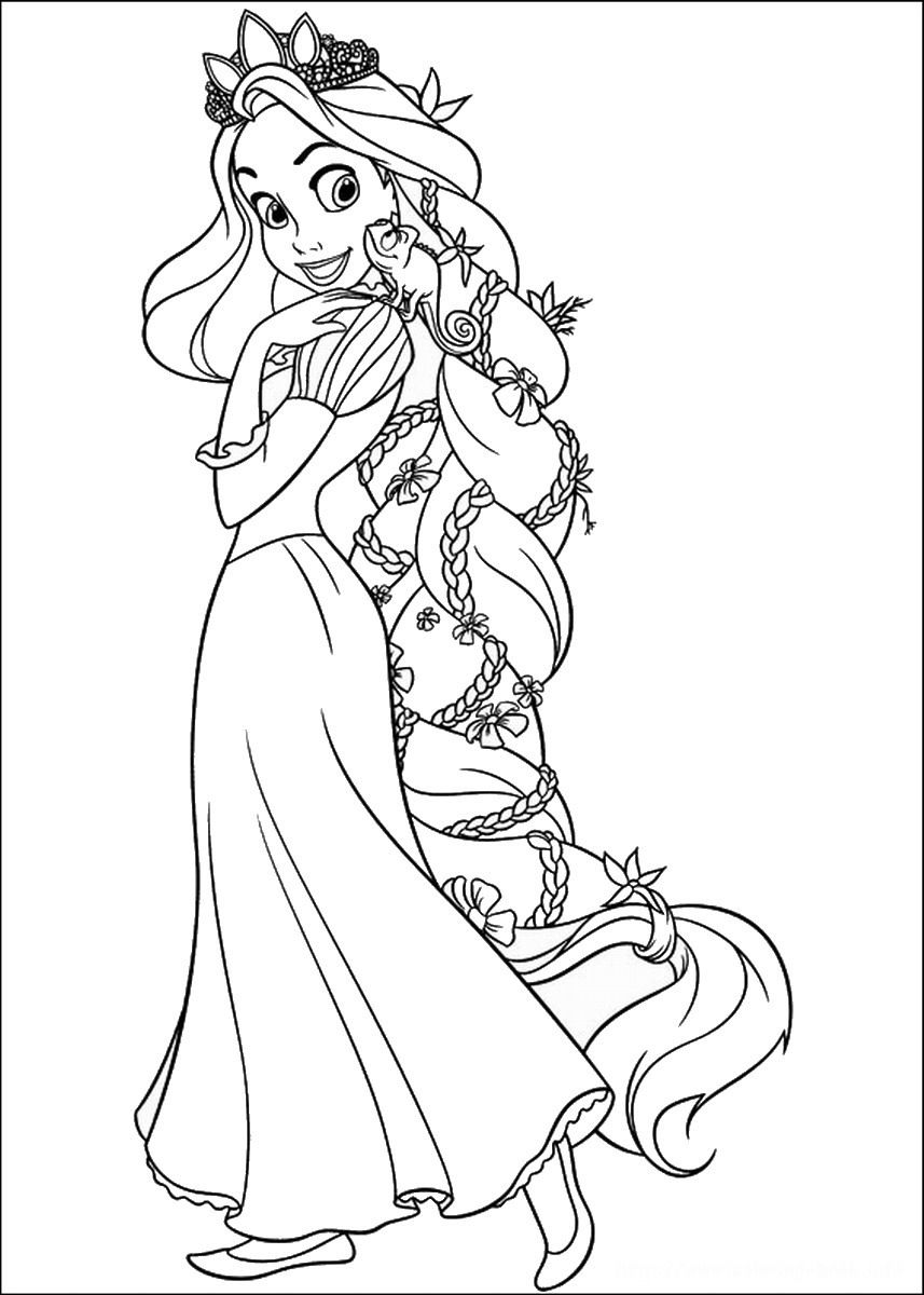 Rapunzel Coloring Pages 66