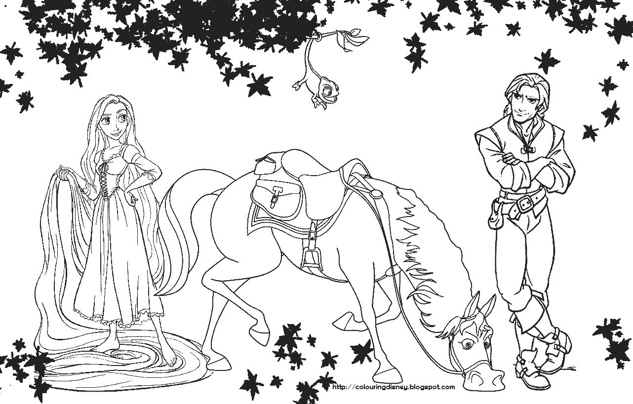 Rapunzel Coloring Pages 67