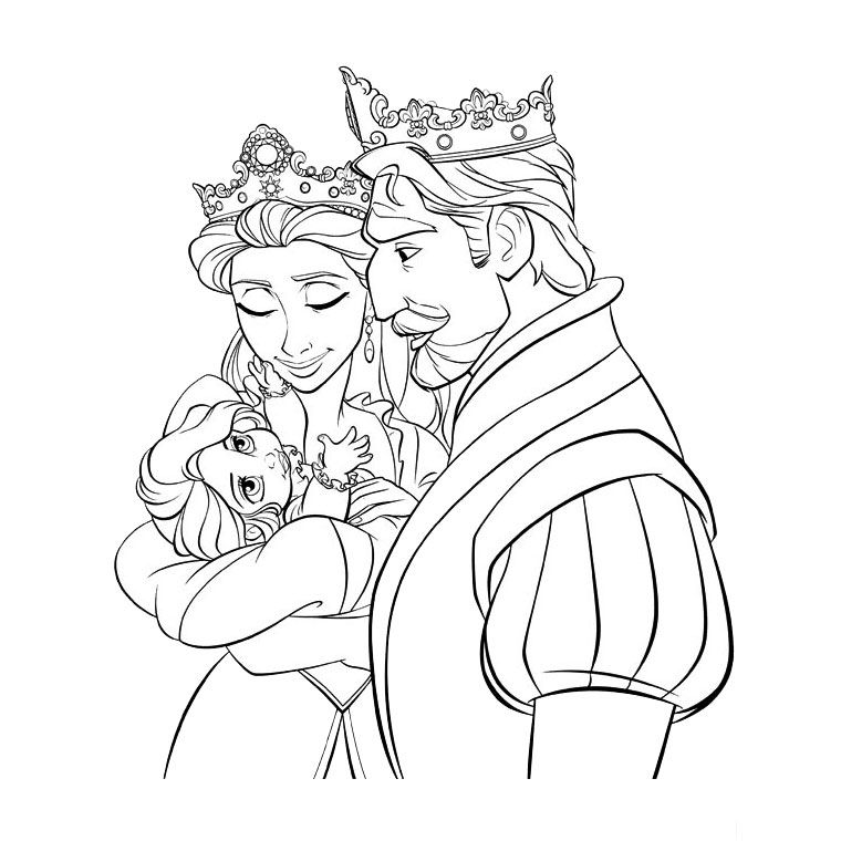 Rapunzel Coloring Pages 68