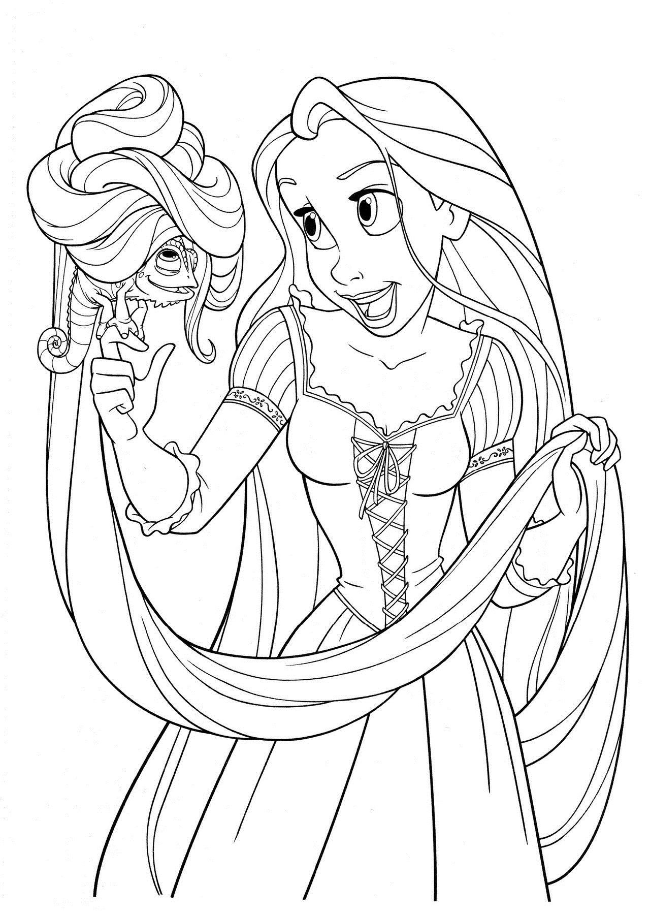 Rapunzel Coloring Pages 7