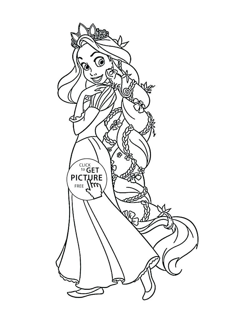Rapunzel Coloring Pages 70