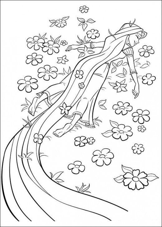 Rapunzel Coloring Pages 72