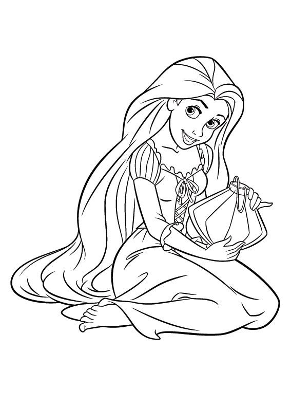 Rapunzel Coloring Pages 75