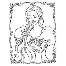 Rapunzel Coloring Pages 83