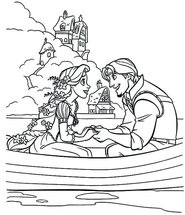 Rapunzel Coloring Pages 9