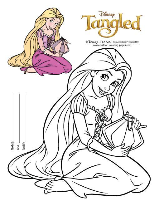 Tô Màu Công Chúa Toc May Rapunzel 14