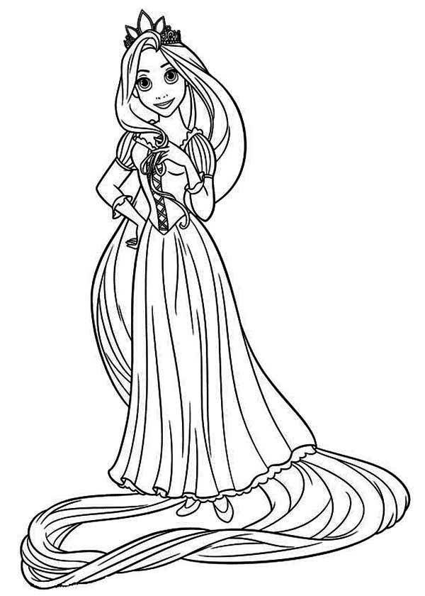 Tô Màu Công Chúa Toc May Rapunzel 16