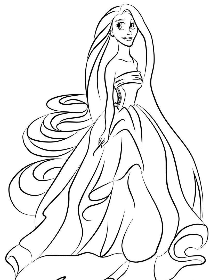 Tô Màu Công Chúa Toc May Rapunzel 18