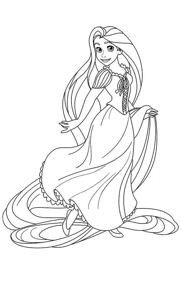 Tô Màu Công Chúa Toc May Rapunzel 20