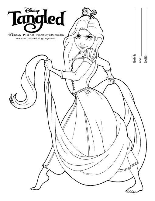 Tô Màu Công Chúa Toc May Rapunzel 22