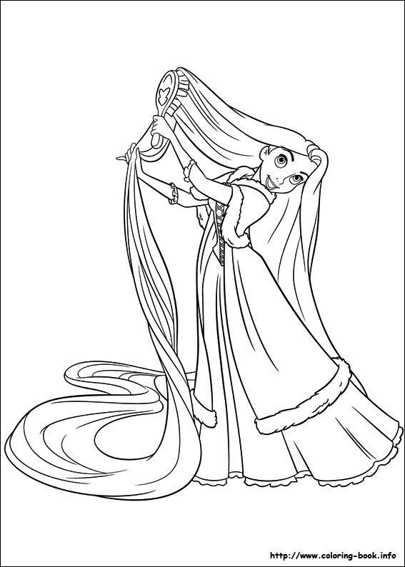 Tô Màu Công Chúa Toc May Rapunzel 25