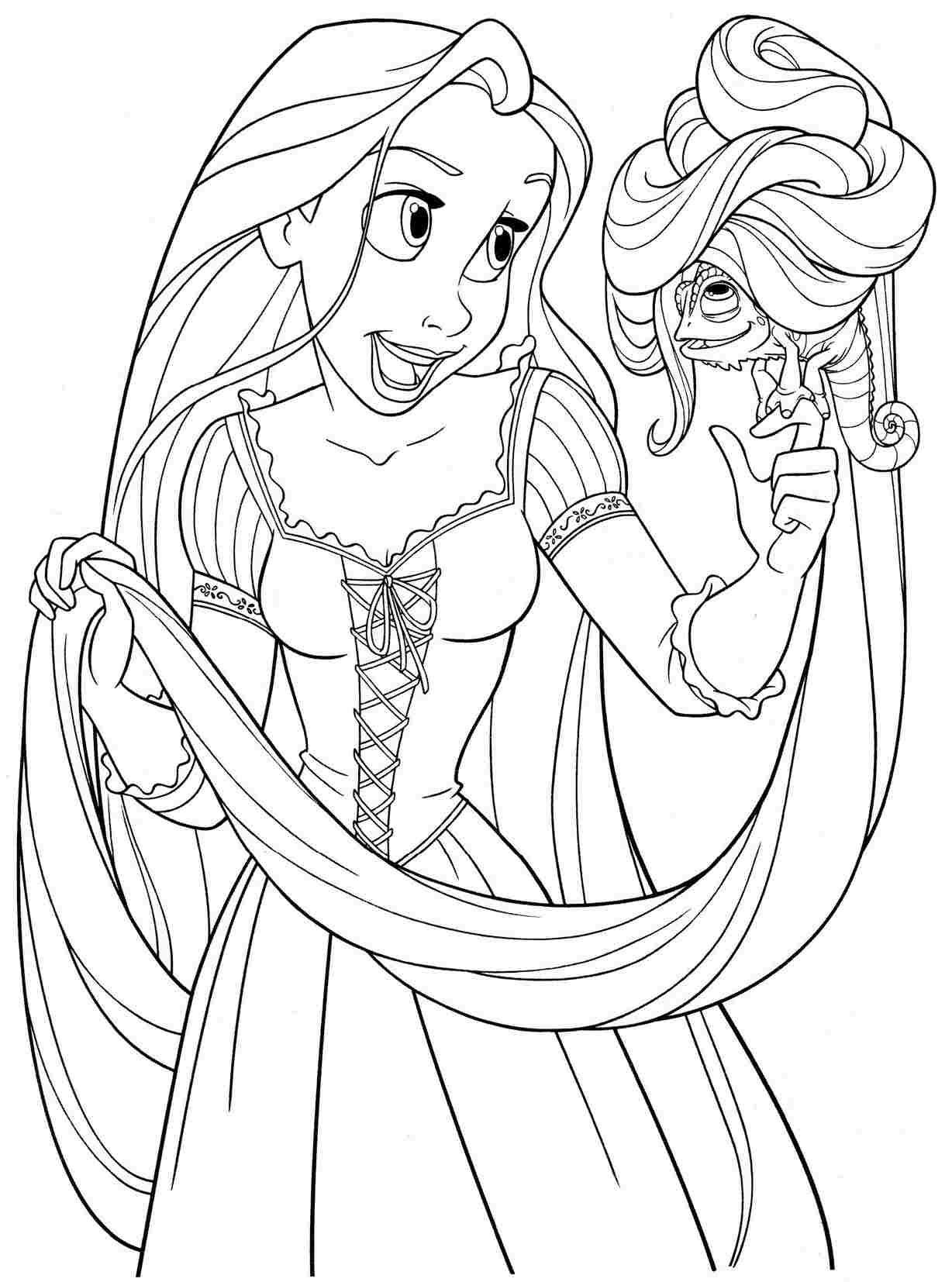 Tô Màu Công Chúa Toc May Rapunzel 28
