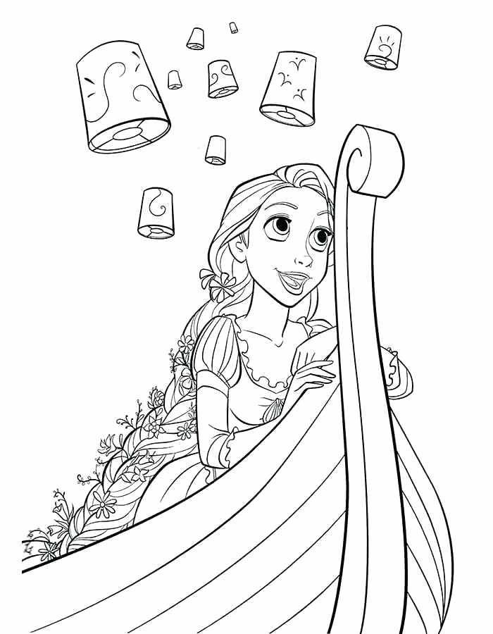 Tô Màu Công Chúa Toc May Rapunzel 30
