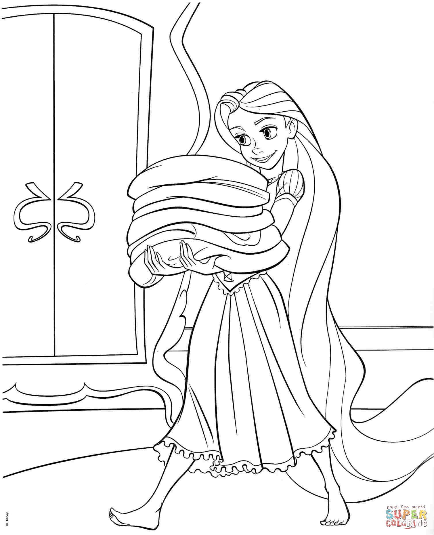 Tô Màu Công Chúa Toc May Rapunzel 33