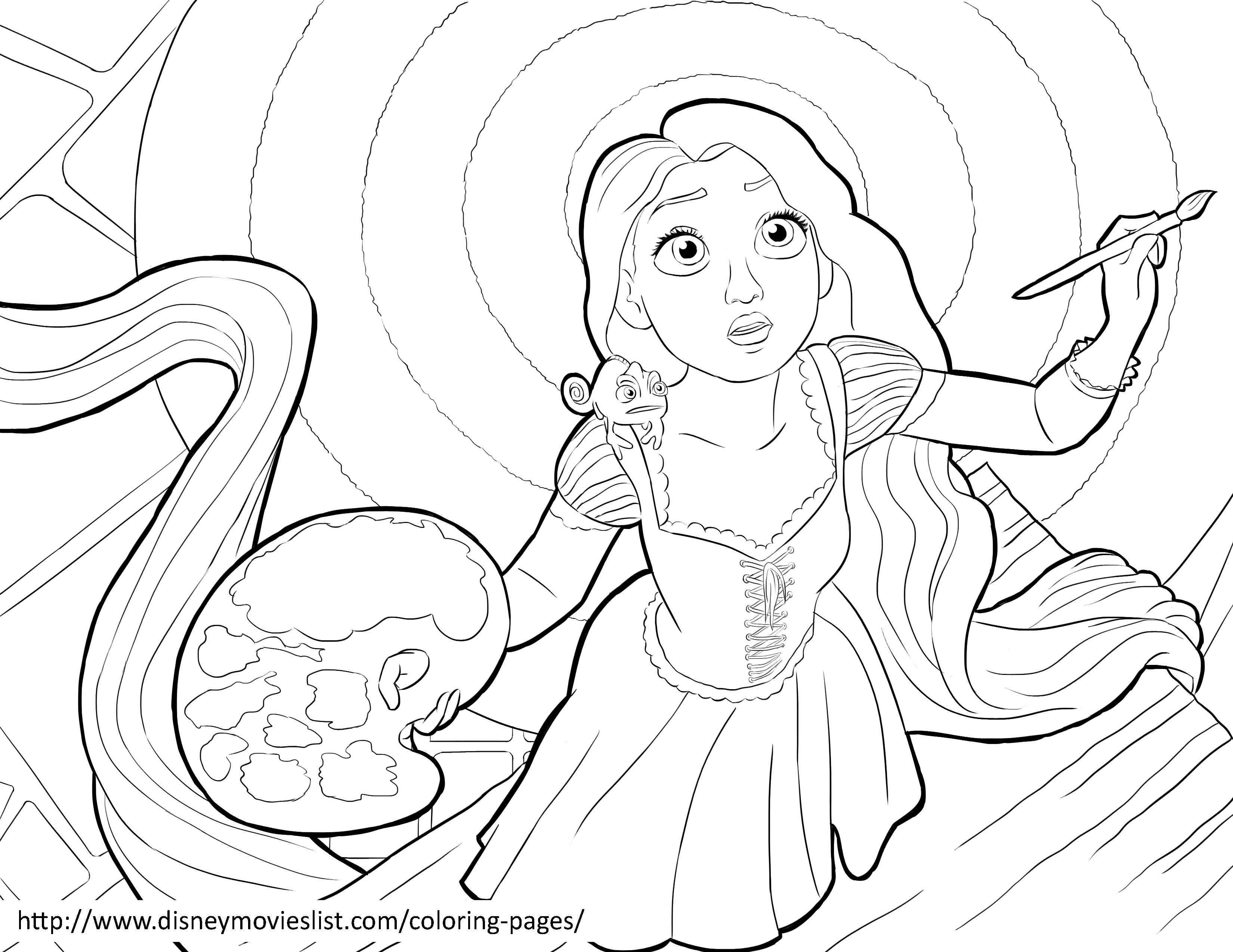 Tô Màu Công Chúa Toc May Rapunzel 34