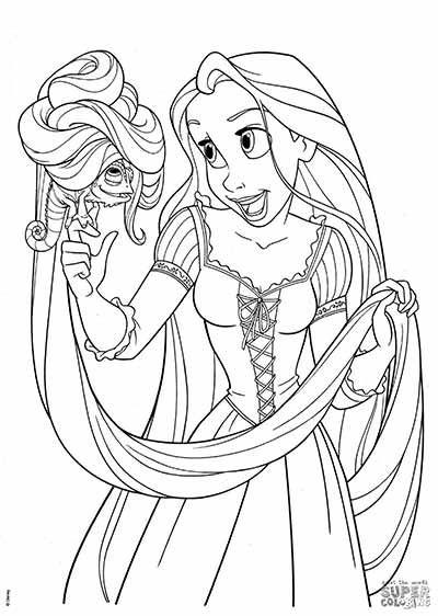 Tô Màu Công Chúa Toc May Rapunzel 38