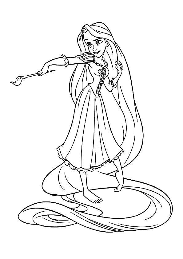 Tô Màu Công Chúa Toc May Rapunzel 39