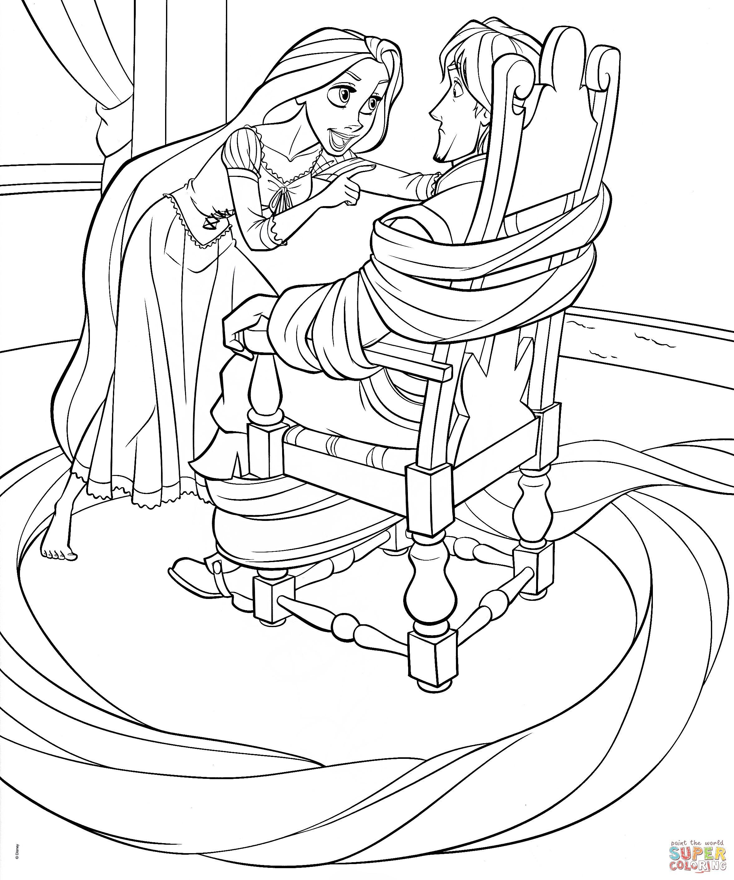 Tô Màu Công Chúa Toc May Rapunzel 4
