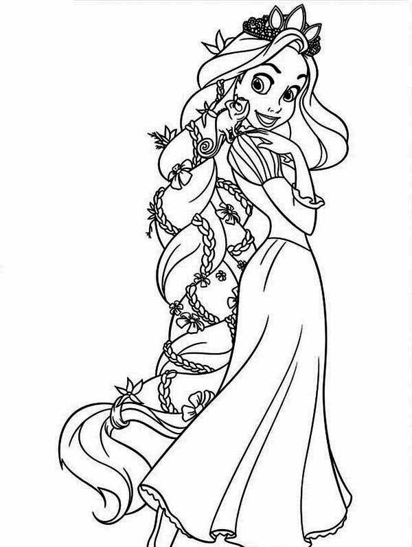 Tô Màu Công Chúa Toc May Rapunzel 43