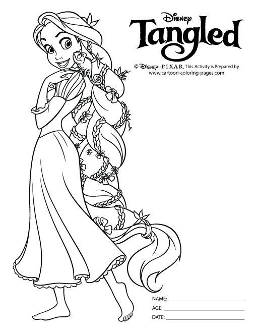 Tô Màu Công Chúa Toc May Rapunzel 44