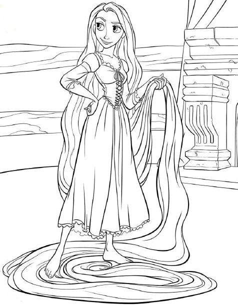 Tô Màu Công Chúa Toc May Rapunzel 45