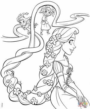 Tô Màu Công Chúa Toc May Rapunzel 46