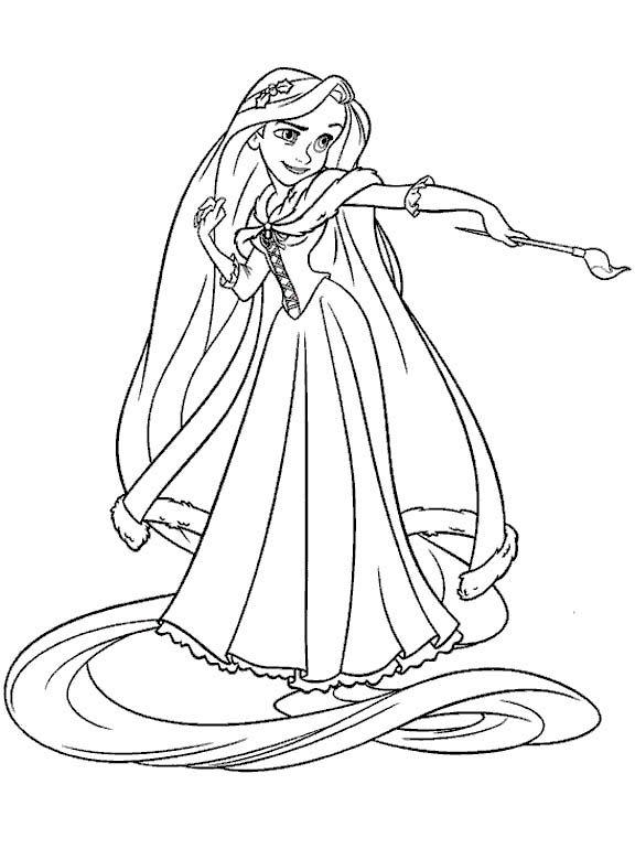 Tô Màu Công Chúa Toc May Rapunzel 48