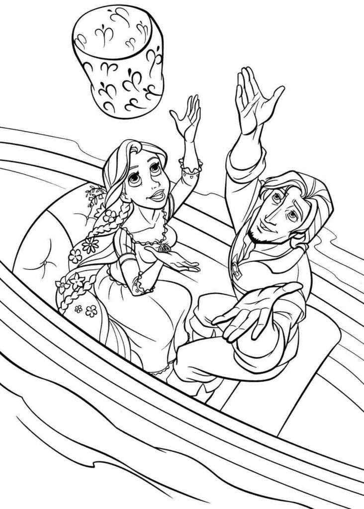 Tô Màu Công Chúa Toc May Rapunzel 5
