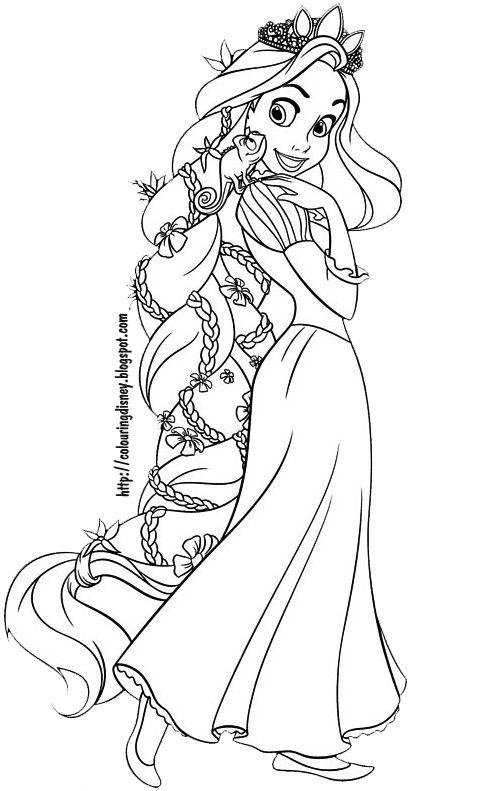 Tô Màu Công Chúa Toc May Rapunzel 52