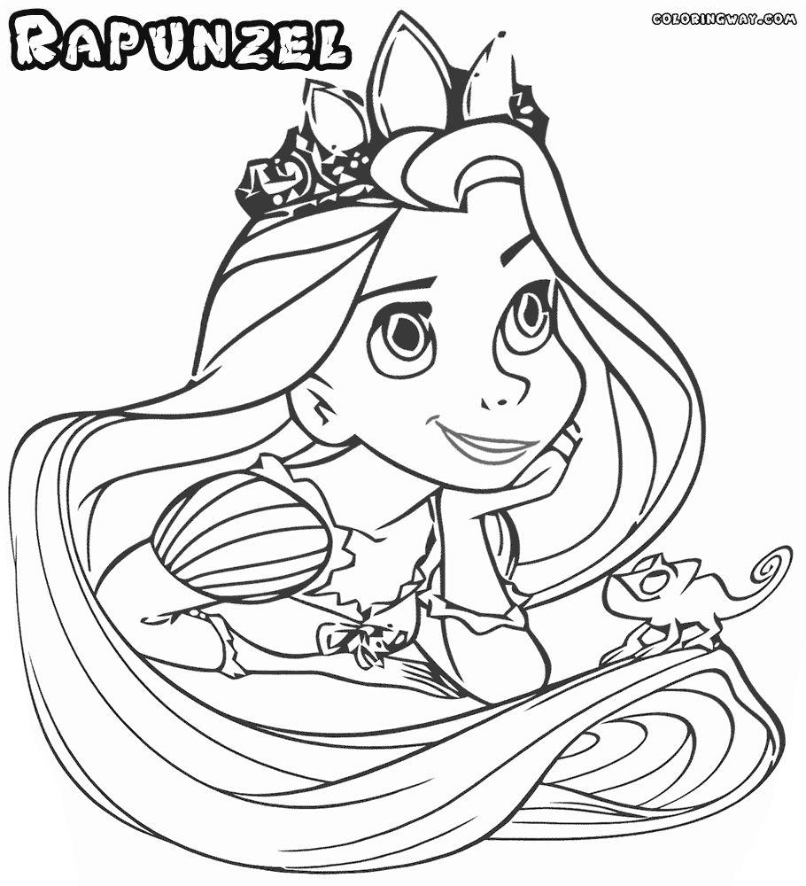 Tô Màu Công Chúa Toc May Rapunzel 54