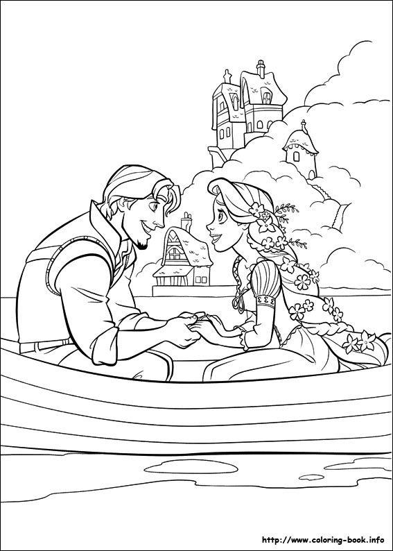 Tô Màu Công Chúa Toc May Rapunzel 56