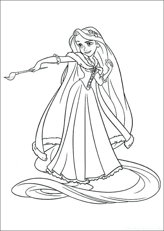 Tô Màu Công Chúa Toc May Rapunzel 61