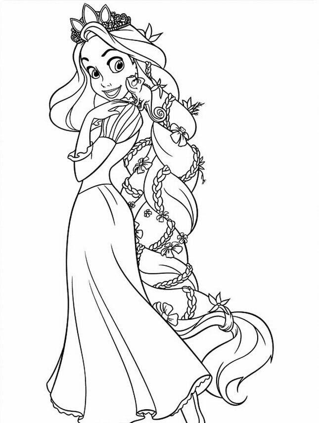 Tô Màu Công Chúa Toc May Rapunzel 62