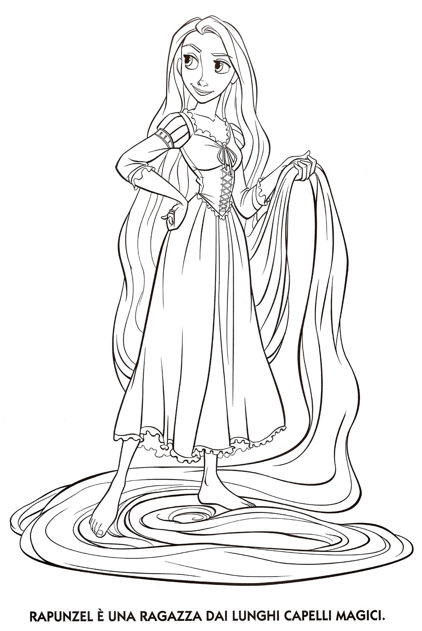 Tô Màu Công Chúa Toc May Rapunzel 7