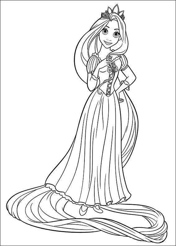 Tô Màu Công Chúa Toc May Rapunzel 9