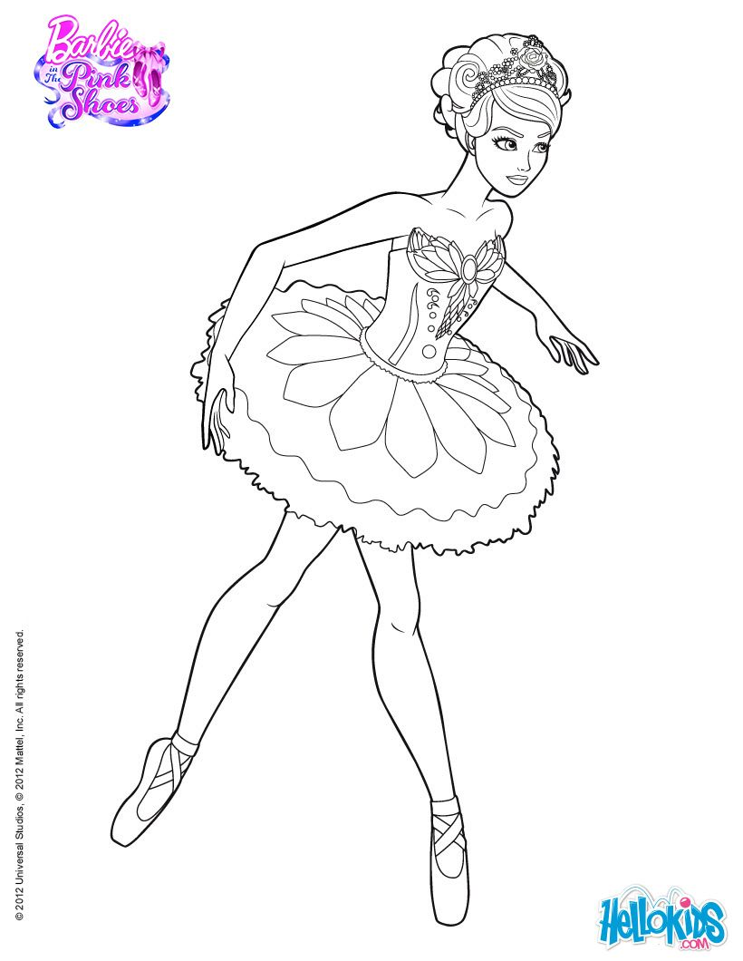 Tranh Tô Màu Công Chúa Barbie 3
