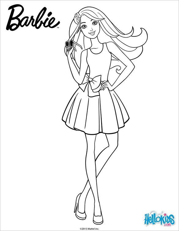 Tranh Tô Màu Công Chúa Barbie 49