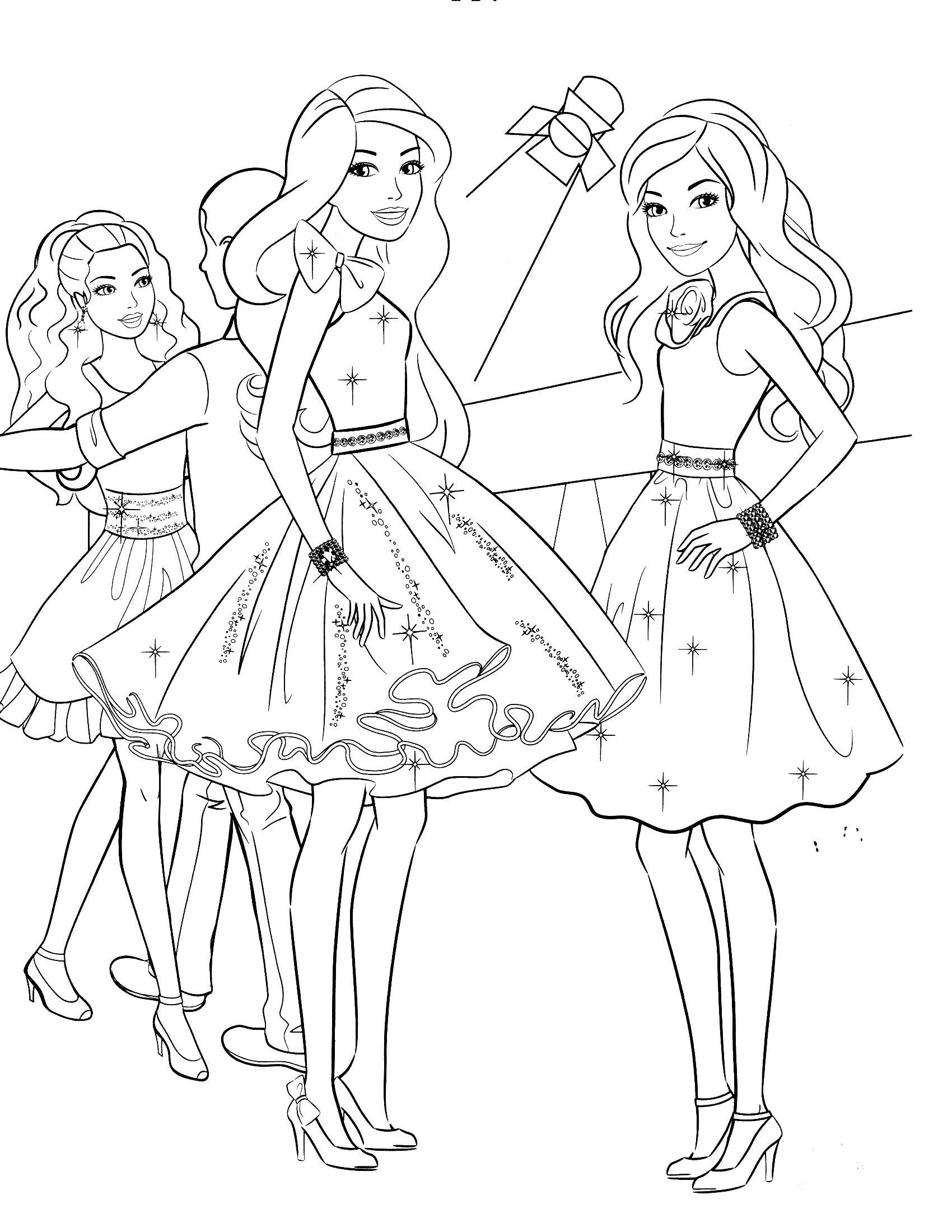 Tranh Tô Màu Công Chúa Barbie 61