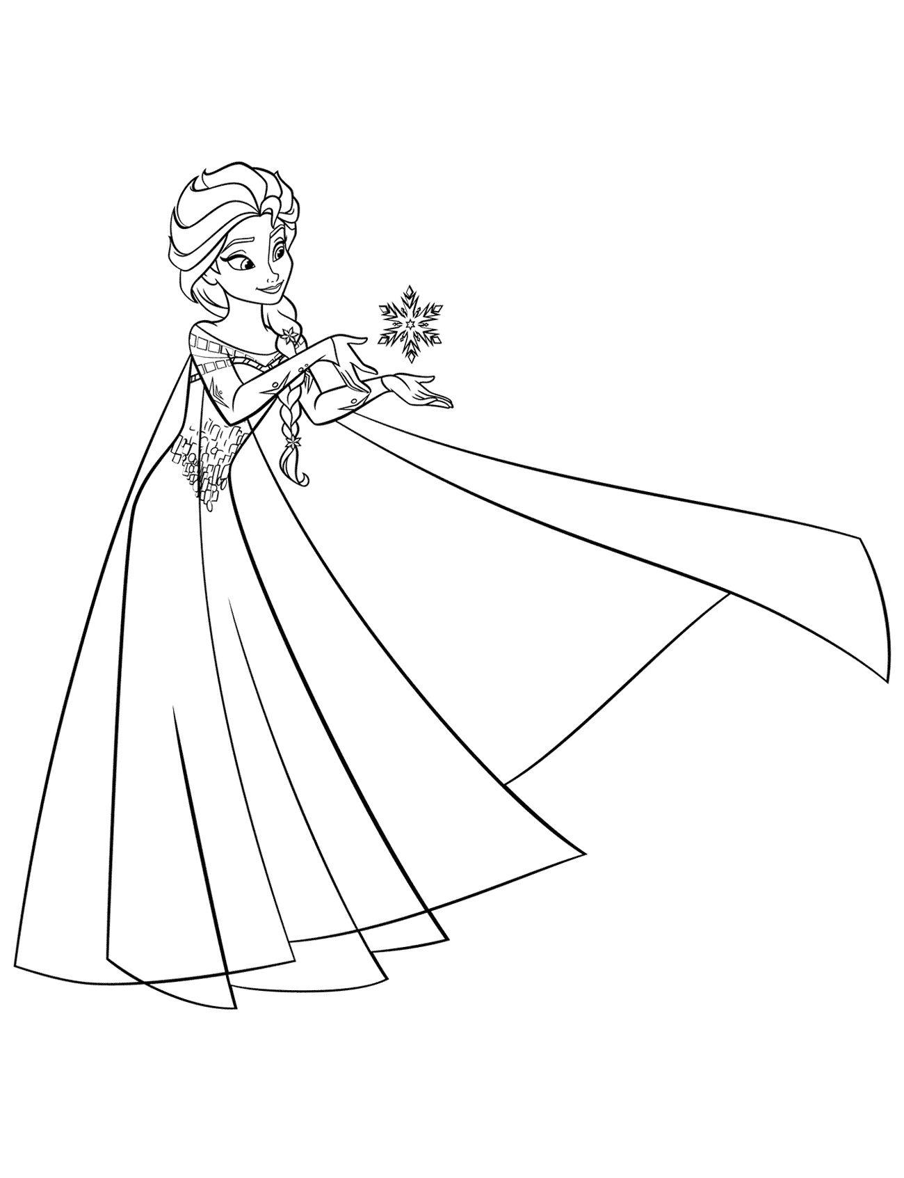 Tranh Tô Màu Công Chúa Elsa 1