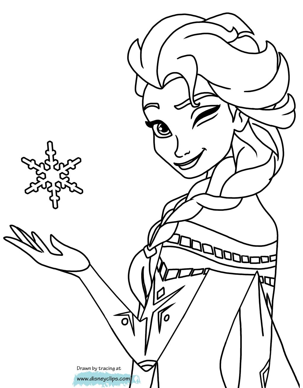 Tranh Tô Màu Công Chúa Elsa 10