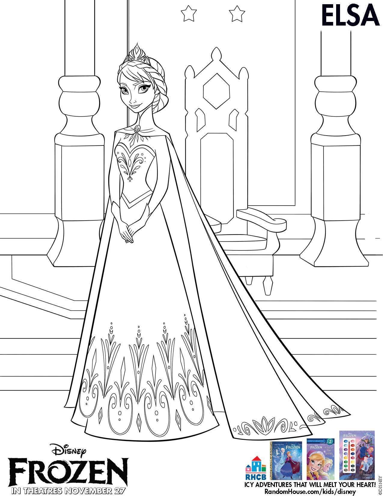 Tranh Tô Màu Công Chúa Elsa 12