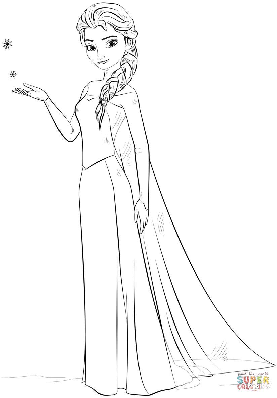 Tranh Tô Màu Công Chúa Elsa 14