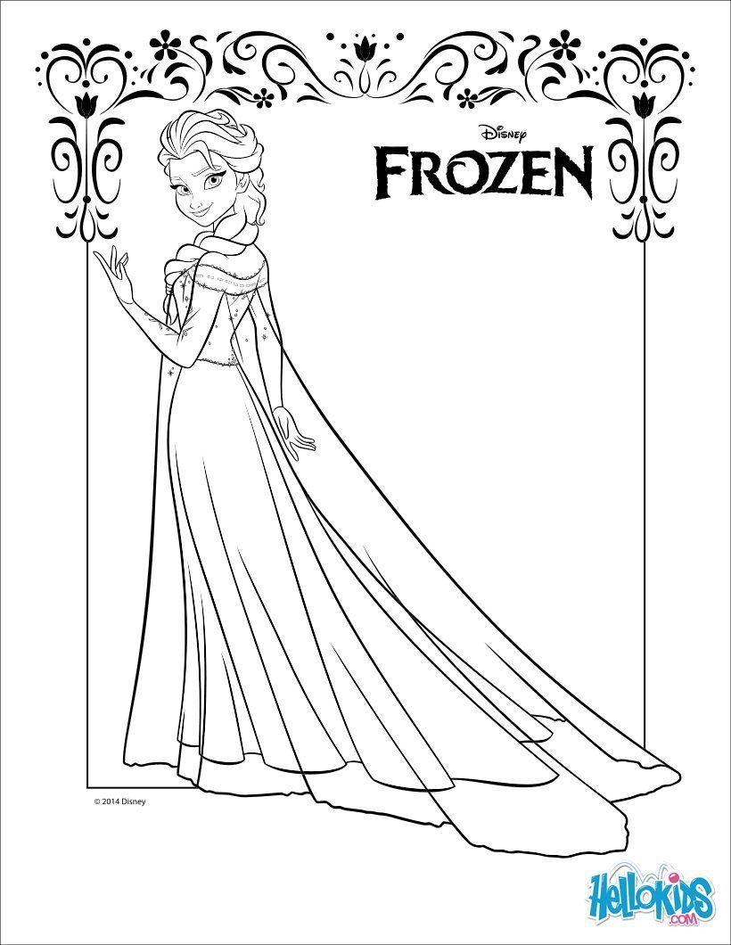 Tranh Tô Màu Công Chúa Elsa 15