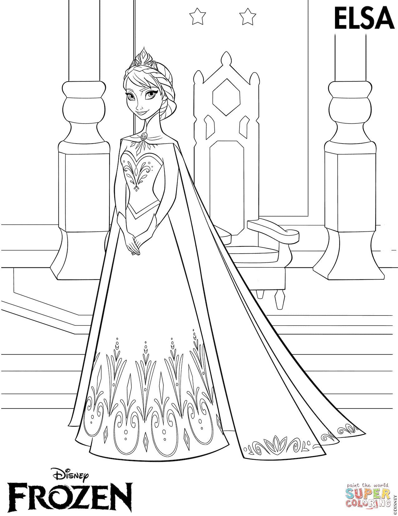 Tranh Tô Màu Công Chúa Elsa 17