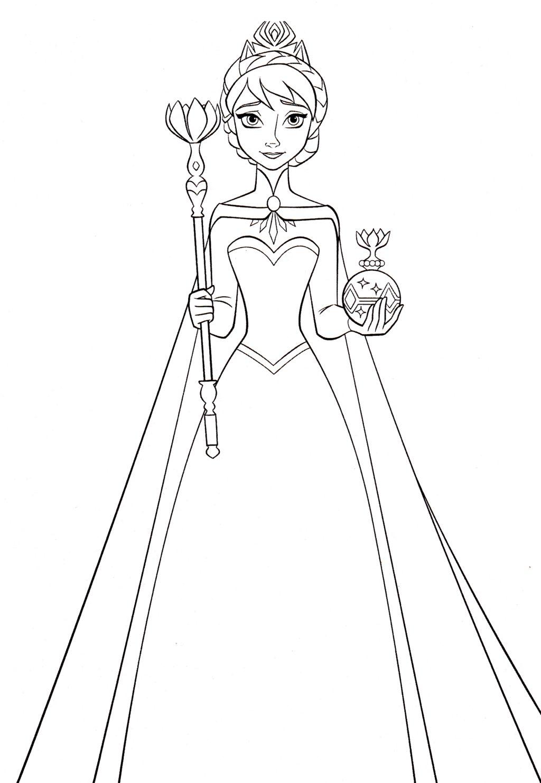 Tranh Tô Màu Công Chúa Elsa 18