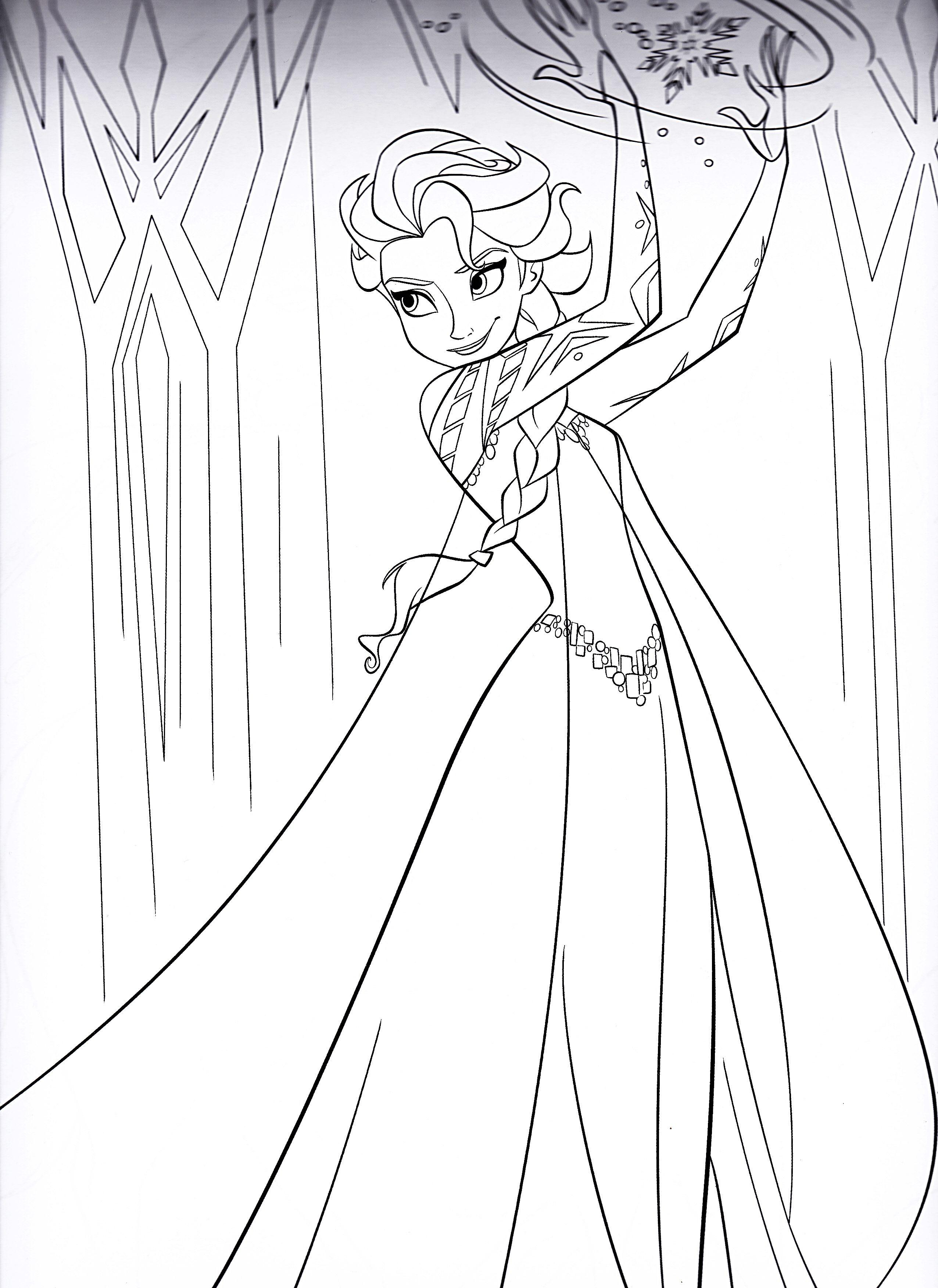 Tranh Tô Màu Công Chúa Elsa 2