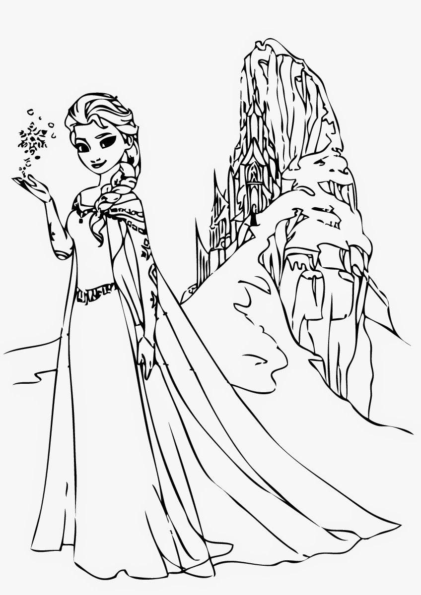 Tranh Tô Màu Công Chúa Elsa 22