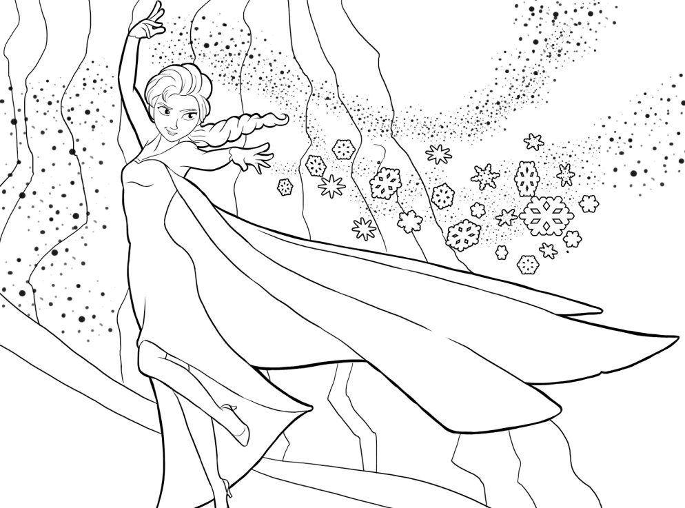 Tranh Tô Màu Công Chúa Elsa 25