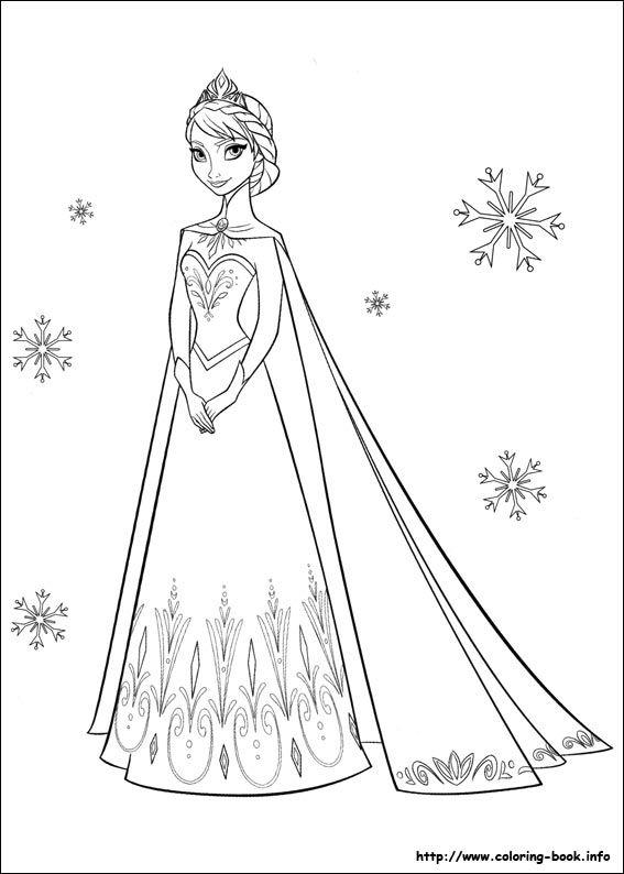 Tranh Tô Màu Công Chúa Elsa 28